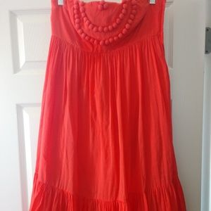 Gap strapless (removable straps) coral coloredress